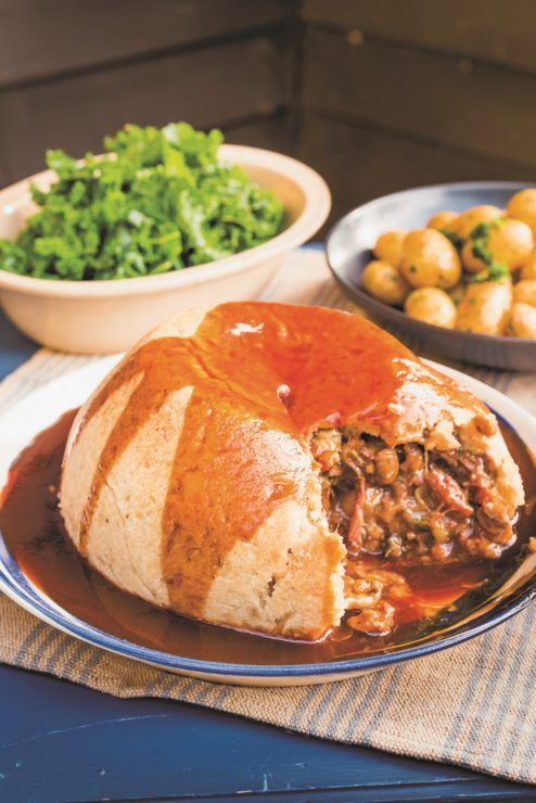 Beefsteak and Kidney pudding