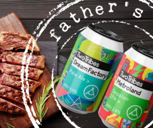 T&G LAUNCH FATHER'S DAY STEAK AND BEER BOX WITH TWO TRIBES